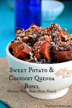 Sweet Potato and Coconut Quinoa Bowl {Gluten-Free, Dairy-Free, Vegan} #glutenfree
