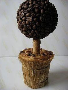 decorar con granos de cafe