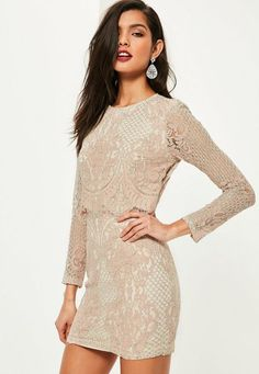 8fe8838a964957 Look pretty in pink and embrace some serious lace wearing this beaut bodycon  dress - featuring