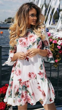 50 Stunning Party Outfit Ideas For Women Flower Dresses, Cute Dresses, Casual Dresses, Short Dresses, Summer Dresses, Cotton Dresses, Teenager Winter Outfits, Dress Outfits, Fashion Dresses