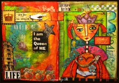 Just love the colours of this visual.  Who Am I?  part two (journal) by constancetaylor, via Flickr