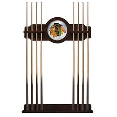 Chicago Blackhawks Eight Stick Pool Cue Rack - English Tudor - $199.99