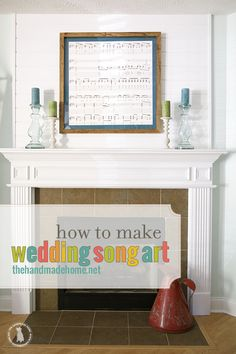 wedding song art - the handmade homethe handmade home