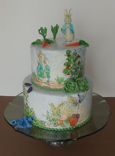 Peter Rabbit Baby Shower Cake by Joy's Cake Studio