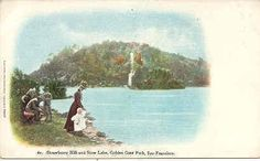 """"""" Strawberry Hill & Stow Lake, San Francisco """" Vintage 1901 Post Card. An UDB-UNU and in Excellent condition. Karodens Vintage Post Cards."""