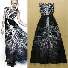 #mesh #dress #tree #print #blackandwhite