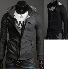 Men's Hooded Zipper Cotton Jacket