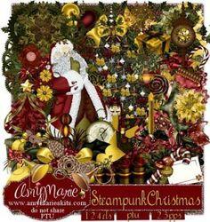 AmyMaire: NEW KITS PTU Steampunk Christmas