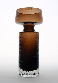 Riihimaki 'Safari' brown glass vase by Tamara Aladin, design number Produced
