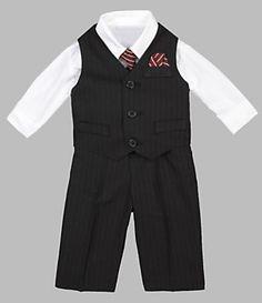 Starting Out Infant Black Stripeed Vest Set | Dillard's Mobile