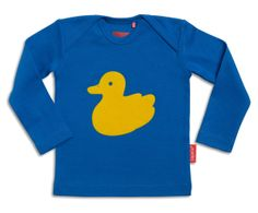 The Yellow flock duck tee is a striking edition to any little ones wardrobe this season. The flock texture combined with the vivid yellow set against the blue makes this a fun tactile piece of clothing and a must have this season. Made using 100% organic cotton this piece is super soft and very comfortable.  Machine washable and features a cross over neckline for a comfortable fit.