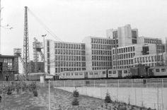 Ca1980 spooremplacement, CBS-gebouw en 2 schachten van de ON1