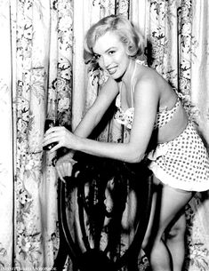 """infinitemarilynmonroe: """" Marilyn Monroe photographed during the filming of Love Nest. """""""