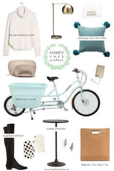 Comfy Cozy Couture: Wednesday Wish List | #fall #homedecor #chunkyknits #brass