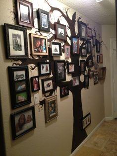 My family tree photo wall