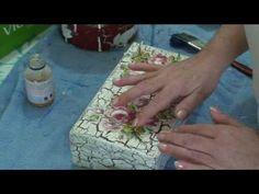 Lu Heringer - CRAQUELÊ COM DECOUPAGE - YouTube