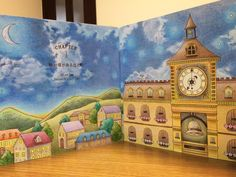 Romantic Country Coloring Book...stunning sky!
