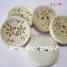 6 unids/24 unids 20mm Circular de Marcado Láser Botones de Madera Accesorios de la Ropa DIY Botones de Madera Scrapbook 13012022
