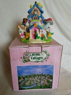 Cottontale Cottages hand painted porcelain house with working light. Great addition or place to start a new collection. Certain to brighten up any easter!