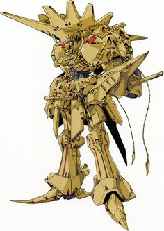 The Patraqushie Mirage a.k.a knight Of Gold 2 from Mamoru Nagano's Five Star Stories,