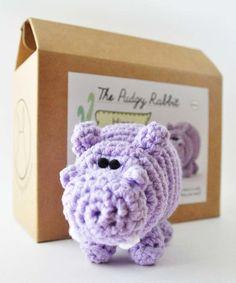 Purple Hippo DIY Crochet Kit #zulily #zulilyfinds