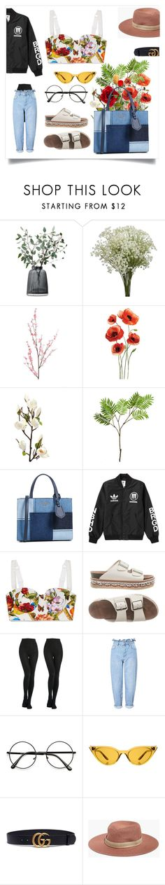 """take my hand trough the flames"" by elsanyqvist ❤ liked on Polyvore featuring LSA International, Pier 1 Imports, Wyld Home, Kate Spade, adidas, Dolce&Gabbana, Miss Selfridge, Illesteva, Gucci and Madewell"
