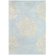 Safavieh Contemporary Handmade Soho Medallion Light Blue New Zealand Wool Rug (2' x 3') | Overstock.com Shopping - The Best Deals on Accent Rugs
