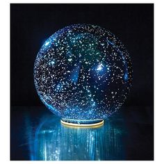 Shop for Lighted Mercury Glass Ball Sphere - Blue - Small. Get free delivery On EVERYTHING* Overstock - Your Online Home Decor Outlet Store! Get in rewards with Club O! Starry Night Sky, Night Light, Glow Stick Jars, Glow Jars, Glow Sticks, Mercury Glass, Glass Ball, Blue Crystals, Crystal Ball