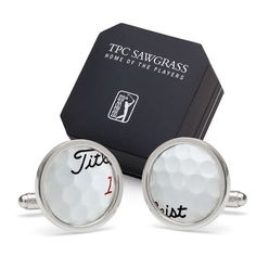 Upcycled Cufflinks - These Accessories are Made from Authentic PGA Tour Golf Balls Asics Golf Shoes, Pga Tour Golf, Golf Ball Crafts, Golf Training Aids, Perfect Golf, Perfect Man, Golf Shop, Golf Gifts, Golf Accessories