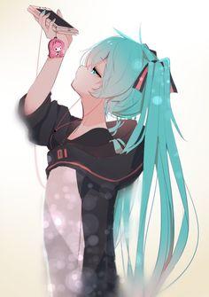 ルカが好きなミクさん hatsune miku, miku chan, all anime, anime Anime Girl Cute, Beautiful Anime Girl, Kawaii Anime Girl, Anime Girls, M Anime, Fanarts Anime, Photo Manga, Chibi, Gamers Anime