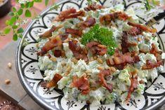 Verdens beste brokkolisalat - Franciskas Vakre Verden Pavlova, Cobb Salad, Sprouts, Potato Salad, Bacon, Food And Drink, Appetizers, Potatoes, Vegetables