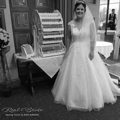 Real bride Katie looks stunning in 'Divine' by Anna Sorrano  Feel like a princess in this gorgeous a-line gown  Could this be your dream dress?  www.wed2b.co.uk