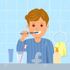 Resultado de imagen de lavarse los dientes animado