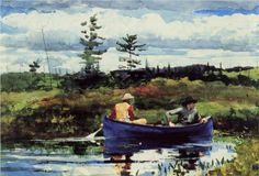 Water » The Blue Boat, 1892 - Winslow Homer