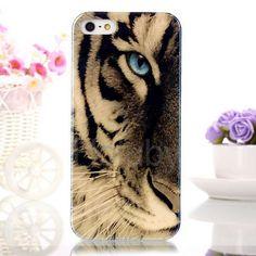 IML Kunsthandwerk Blu-ray-TPU für iPhone 5 5S Eye of Tiger