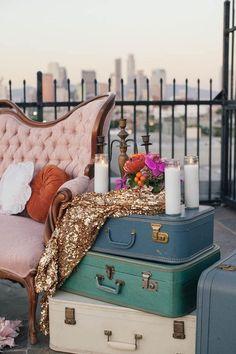 Bridal Musings Wedding Blog- Sassy Urban Bridal Shower by Sparkles and Vintage Event Design, martina micko photography, #vintagerentals #sparklesandvintage