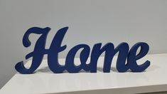 Wood word Home, Handmade and cut on a scroll saw from 18mm premium grade Birch plywood and finished in quality acrylic paint, Finished off in a clear coat satin lacquer to protect the colour, These are freestanding words or can be wall hung. Made to order only Please choose from the