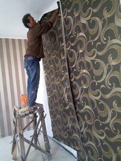menerima pemesanan wallpaper dinding untuk kamar maupun ruangan sesuai dengan kebutuhan anda Informasi lebih lanjut  hubungi kami di nomer :  WA / Telp : :081326796874 Tile Floor, Flooring, Texture, Interior, Crafts, Surface Finish, Manualidades, Indoor, Tile Flooring