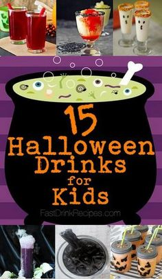 15 of the Non-Alcoholic Halloween Drinks for Kids Heidi Miller. Cocktails Halloween, Halloween Drinks Kids, Halloween Punch, Halloween Goodies, Halloween Food For Party, Holiday Drinks, Halloween Birthday, Holidays Halloween, Spooky Halloween