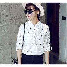 Buy 'YOZI – Seahorse Print Long-Sleeve Blouse' with Free International Shipping at YesStyle.com. Browse and shop for thousands of Asian fashion items from China and more! 18.55