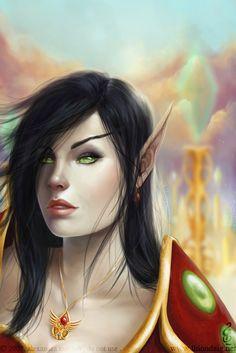 f High Elf Cleric Med Armor portrait Community Castle conifer fores hills lg Character Portraits, Character Art, Elf Characters, Fictional Characters, Blood Elf, High Elf, Fantasy Art Women, Cleric, Female Art