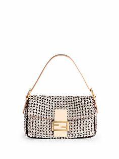 All about shine - #Fendi #Beaded Baguette Shoulder Bag
