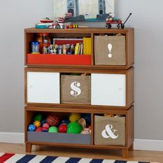 Toy Stoage: District Storage Bench/Bookcase (Wheat)  | The Land of Nod