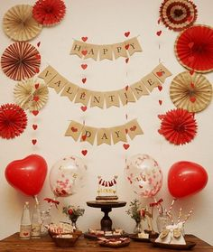 Looking for valentine's party themes? Tons of free checklists, party planning tips and valentine's ideas & inspiration. Start Party Planning like a Pro! Valentines Decoration, Valentines Day Party, Valentine Crafts, Diy Valentine's Day Decorations, Valentine's Day Diy, Party Themes, Birthday Parties, Ideas Decoración, Decor Ideas