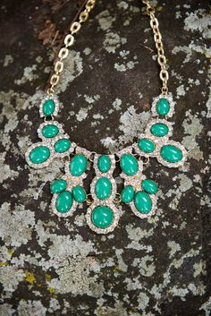 Reddress // Lucky Charm Necklace-Emerald - $28.00