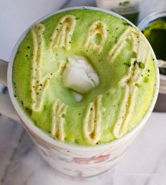 Skip the coffee (and the jitters) for one of these.. Mint Matcha Green Tea Soy Latte. ZEN-ergy! #vegan #drink