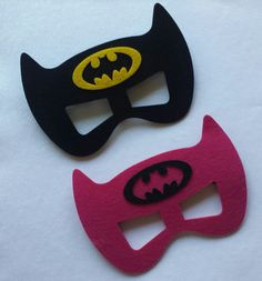 Batman and Batgirl Mask  Great for Party Favors/ Costumes/ Dress Up!!