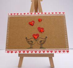 Love Birds Handmade Card £3.50