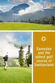 Two generations, one passion – golfing with a view in Switzerland. Switzerland Tourism, Summer Story, Great Stories, During The Summer, The Good Old Days, Alps, Countryside, Golf Courses, National Parks