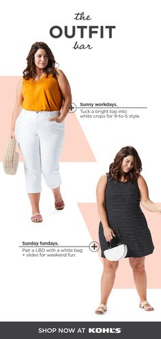 79fdfa8c2a523 Find new summer looks in plus sizes at The Outfit Bar at Kohl's. For a